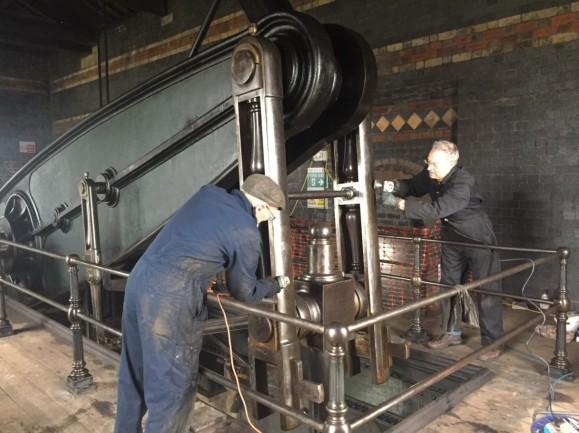 Volunteers at Sandfields Pumping Station (Lichfield Waterworks Trust)